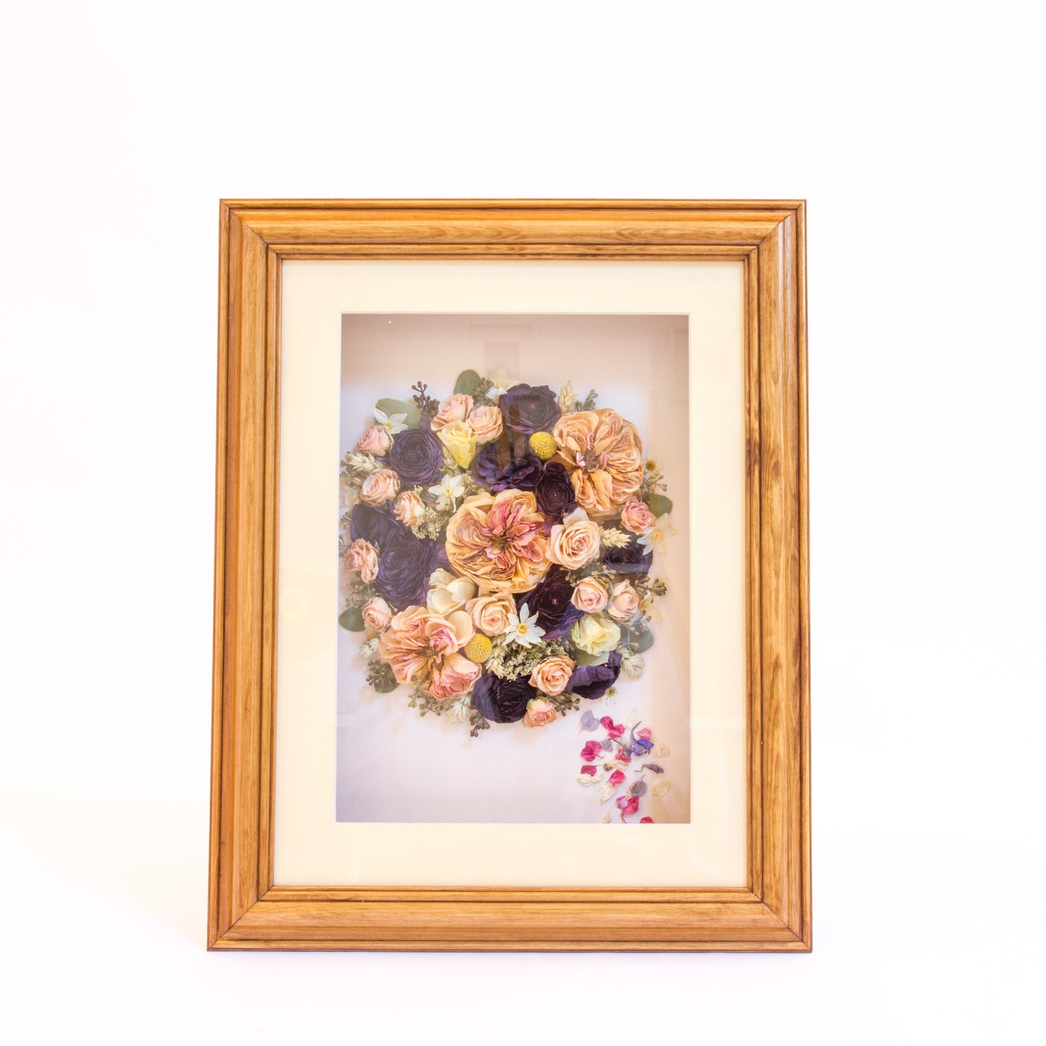 Preserved And Framed Wedding Bouquet