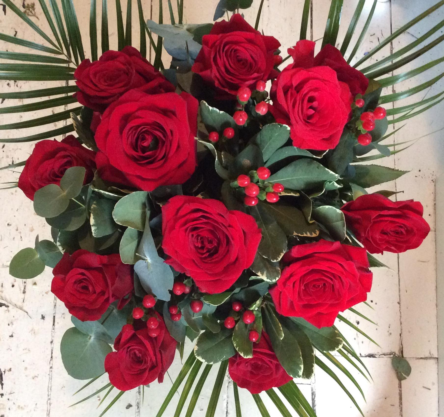 12 Red Rose Valentine Bouquet - Flowers By Alison | Bristol Florist